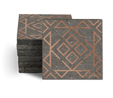 Magma Nadara Pattern Tiles - Copper